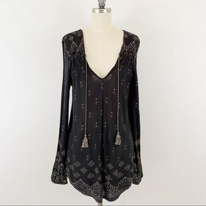 Lucky Brand Black boho Tunic Size Small